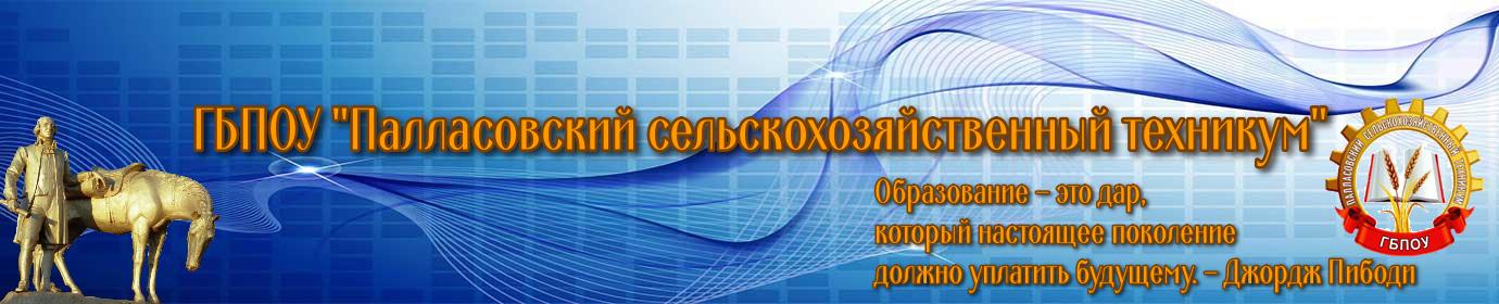 """ГБПОУ """"Палласовский сельскохозяйственный техникум"""""""